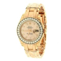 ONETOW Rolex Lady Datejust Champagne Dial 18K Pink Gold Automatic Watch 179175CRJ