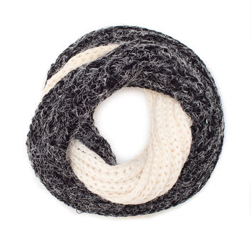 Corli Two-Toned Scarf - Charcoal