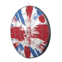 British Flag Grunge Painted Dart Board from Zazzle.com
