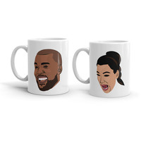 Kanye West Kim Kardashian Set Pablo T.L.O.P The Life of Pablo Yeezy Yeezus Season 3 Ye Ceramic Coffee Morning Mug