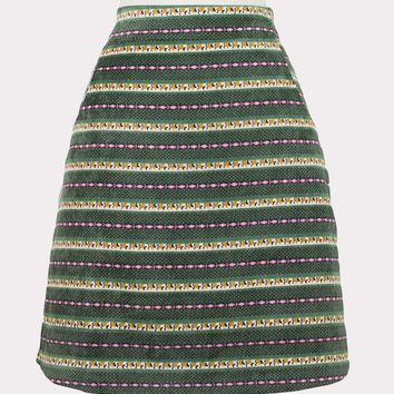 Ribbon Print Mini Skirt