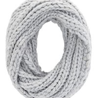 Lt Gray Chunky Cable Knit Infinity Scarf by Charlotte Russe