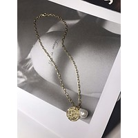 LAYLA PEARL COIN NECKLACE