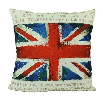 British Flag   Pillow Cover   United Kingdom   Throw Pillow   Home Decor   Union Jack   Home Decor Ideas   Gifts for Travelers   Gift idea