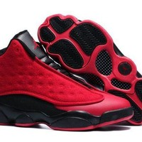 PEAPONVX Jacklish New Air Jordans 13 Retro Singles Day Red Black For Sale