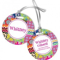 Set of 2 Personalized Monogrammed Luggage Tags II