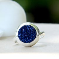 Quartz Ring,Druzy ring,Geode ring,Gemstone ring,Drusy Ring,Agate Ring,stone ring,stacking ring,silver ring,handmade,unique,jewelry,birthday