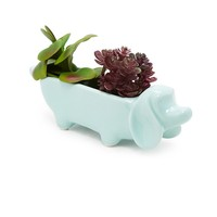 Ceramic Dachshund Dog Planter