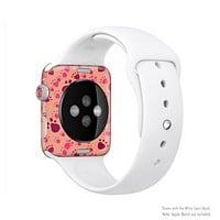 The Pink & Tan Paw Prints Full-Body Skin Kit for the Apple Watch