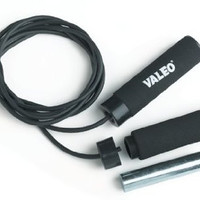 Valeo 1 lb Weighted Jump Rope - Black