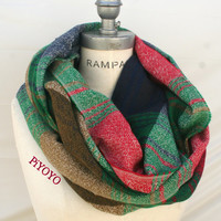 Plaid Scarf for Men Man Scarf  Large Scarf Gifts for Boyfriend Men Accessories  Scarf Gifts for Dad Autumn Gifts Guide - By PiYOYO