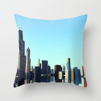 Chicago Throw Pillow by Danny Augustine