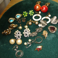 Z Lot of Clip on and Screw Back Earrings