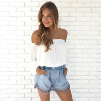 Off The Cuff Blouse In White