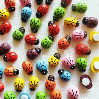 Mixed seletion:Colorful plastic ladybug stickers,3D wall stickers,Easter home decoration,scrapbooking craft Kids toys.1.7*2.4cm.£¨100pcs/bag,color random£© = 1669049540