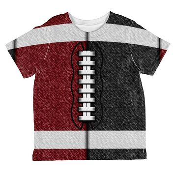 Fantasy Football Team Maroon and Black All Over Toddler T Shirt