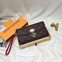 LV Louis Vuitton MONOGRAM LEATHER HAND BAG WALLET