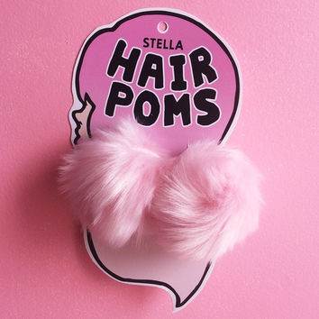 Hair Poms in Pink