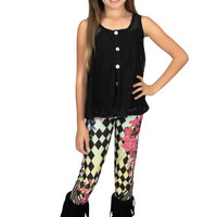Tru Luv Floral Diamond Leggings | Mod Angel
