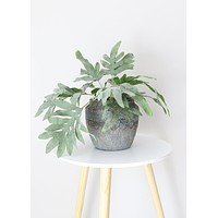 """Fake Split Philodendron Leaves Plant - 16"""" Tall"""
