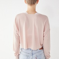 Out From Under Emmy Cropped Henley Top | Urban Outfitters