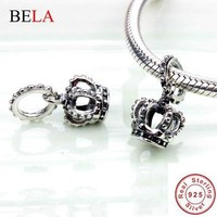 Exquisite 925 Sterling Silver Noble Splendor Crown Charms Beads Fit Original Pandora B