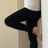 Black Fleece Lined Yoga Winter Thick Leggings (Size: M, Color: Black) = 1933339716