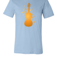 Violin Music Stylized Orchestra Instrument - Unisex T-shirt