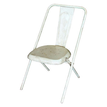 White Rustic Metal Chair