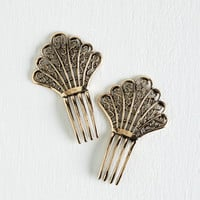 Vintage Inspired, 20s, 30s, French Deco 'Do' Hair Comb Set by ModCloth