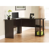 Walmart: L-Shaped Desk with Side Storage, Multiple Finishes