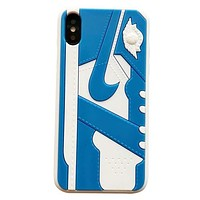 NIKE Air Jordan Fashion New Hook Women Men Phone Case Protective Cover Blue