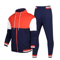 Men sporting suit Tracksuit Male Zipper Sweatshirt Hooded Jacket Hoodies+pants Running Training Jogger Leisure Set Sportswear