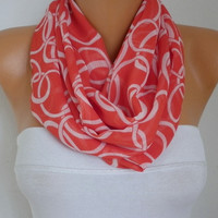 Chain - Infinity Scarf Shawl Circle Scarf  Loop  Scarf Gift -fatwoman