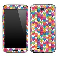 Colorful Knitting Skin for the Samsung Galaxy Note 1 or 2