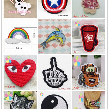 Patch for Clothing Iron On Embroidered Sew Applique Cute Patch Fabric Clothes Badge Garment DIY Apparel Accessories 082007148