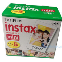 5 Pack Original Fujifilm Instax Mini Film 8 7s 25 50s 90 Polaroids 300 Instant White Edge Photo Paper Fuji Film Camera 50pcs