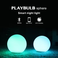 PLAYBULB Sphere Smart Color LED Night Light Atmosphere Mood Waterproof Party Dimmable Glass Orb Wireless Bluetooth APP Control