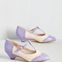 Care to Dance? Heel in Lilac | Mod Retro Vintage Heels | ModCloth.com