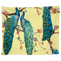 Victorian Peacock – Yellow Tapestry