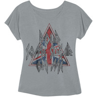 Def Leppard Women's  Pour Some Sugar On Me Girls Jr Heather