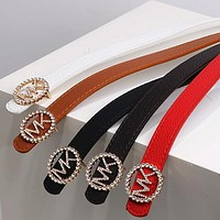 Fashion new product letter gold buckle temperament belt