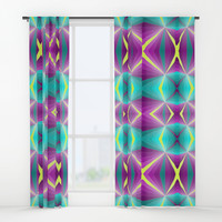 Abstract pattern Window Curtains by edrawings38