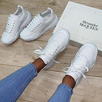 Alexander Mcqueen Casual Little White Shoes-42