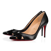 Christian Louboutin Cl Biblio Black Patent Leather 18s Pumps 1180547bk01