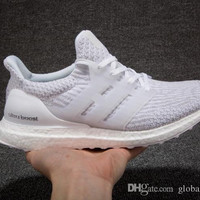 2017 New Ultraboost 3.0 Running Shoes Men Women High Quality Ultra Boost 3 III White Black Athletic Shoes Size 36-44