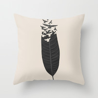 Leave Leaf Left Throw Pillow by Budi Satria Kwan