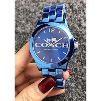 COACH Newest Stylish Women Men Simple Business Movement Watch Wristwatch