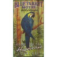 Red Horse Blue Parrot Sign