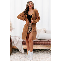 What Really Matters Hooded Cardigan (Camel)